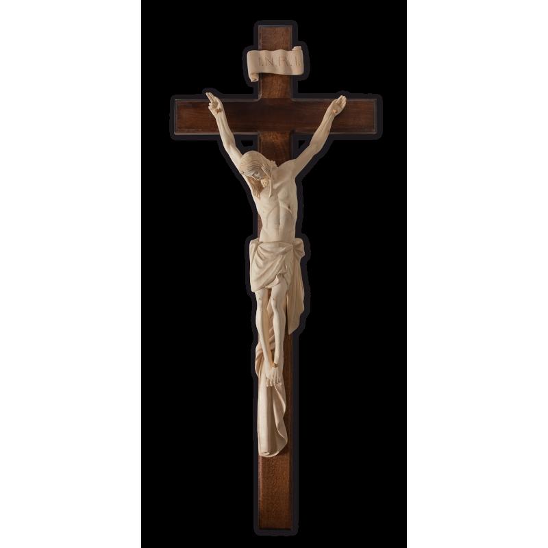 Dřevěný kříž na zeď, světlý - 71 cm