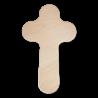 Dřevěný kříž na zeď, tmavý - 26 cm