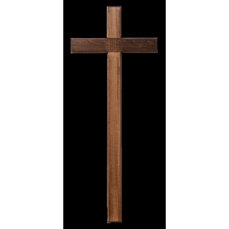 Dřevěný kříž na zeď, tmavý - 71 cm