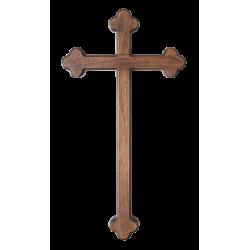 Dřevěný barokní kříž na zeď, tmavý - 40 cm