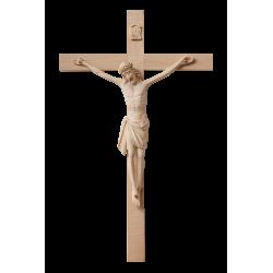 Dřevěný kříž s Ježíšem na zeď - 46/29 cm