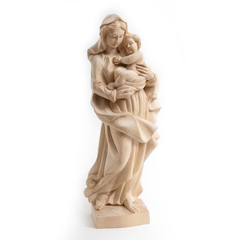 Dřevěná socha Panna Marie s Jezulátkem 34 cm