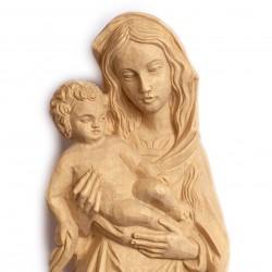 Panna Maria Gotická - dekorace na zeď 39 cm - dřevěná