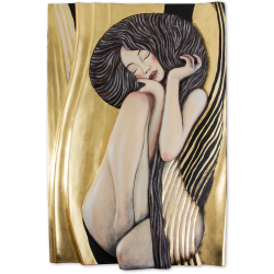Dekorace na zeď - sedící žena