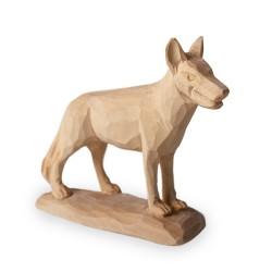Dřevěná socha pes - 8 cm