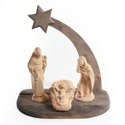 Vyřezávaný dřevěný Betlém