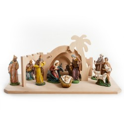 Betlém s dekorací - 15 cm, 10 postav