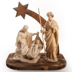 Vyřezávaný dřevěný Betlém - větší