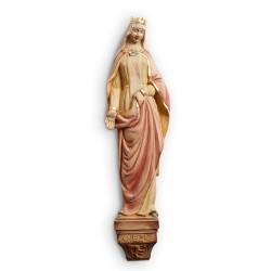 sv. Anežka - dřevěná dekorace na zeď, 41 cm