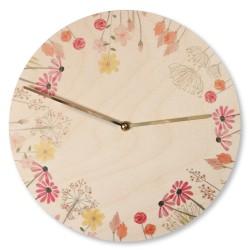 Dřevěné hodiny - Flosii