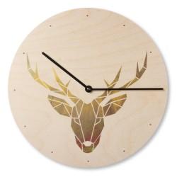 Dřevěné hodiny na zeď -...